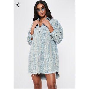 Blue Denim Oversized Shirt Dress